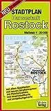 Stadtplan Hansestadt Rostock: Maßstab 1: 20000