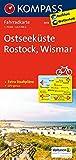 Ostseeküste - Rostock - Wismar: Fahrradkarte